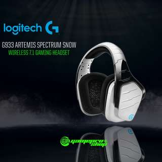 Logitech G933 (981-000622) Artemis Spectrum Snow Wireless 7.1 Surround Sound Gaming Headset