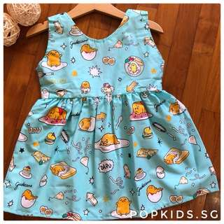 🍳INSTOCK - Cute Gudetama V Back Dress 🍳