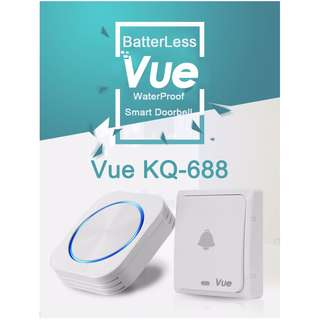 Vue KQ-688 Batteryless Wireless Door Bell (up to 150m)