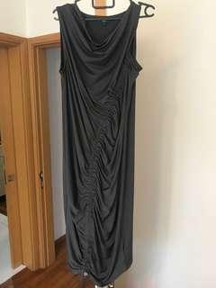 Next Grey Ruched Dress