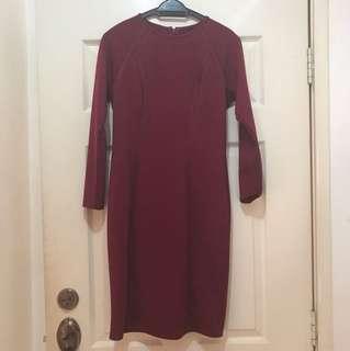 Dressing Paula Maroon Dress