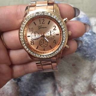 woman's icy crystal watch