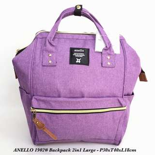 Tas import Wanita Fashion Backpack 2in 1 Large A1902 - 1