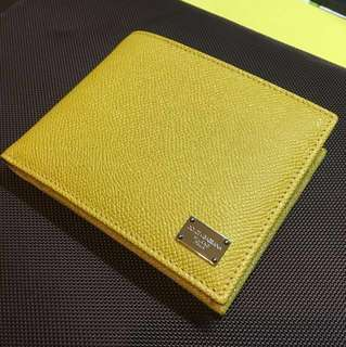Dolce & Gabbana Men's Yellow Leather Wallet BP0457 A1001
