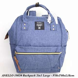 Tas import Wanita Fashion Backpack 2in 1 Large A1902 - 2