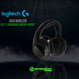 Logitech G533 (981-000636) Wireless Gaming Headset 7.1 Surround Sound Audio