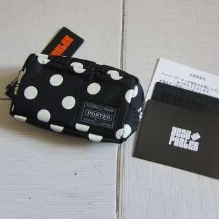 NEW(面交/順豐)日本HEAD PORTER POLKA DOT COIN CASE BAG散銀包WALLET JAPAN可當銀包 卡片套 錢包 財布