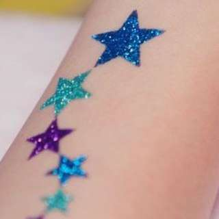 1 Hour Glitter Tattoo