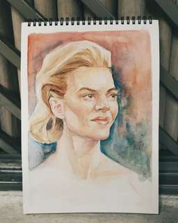 Commision watercolor portrait