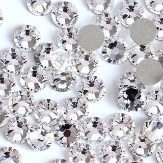 Good quality. Fast Selling! Round. Iron-On Flat-Back Rhinestones/Beads. Hot-Fix!