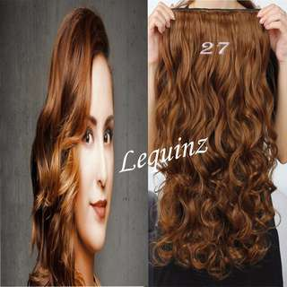 5 Clips Curly Hair Extensions Golden Caramel Gold