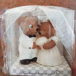 Decorative wedding bears