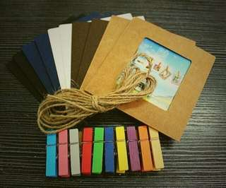 10 pcs. Wallet hanging photo frame with clip inside