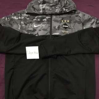 F.C.R.B x Nike black camo dri-fit hoody fcrb jacket