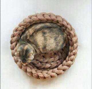 Handcrafted Knitted Cat Bed