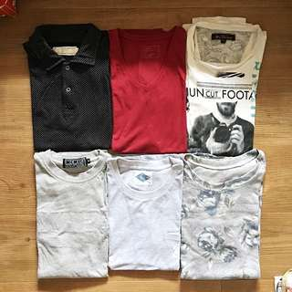 Repriced! Assorted Men's tshirts and poloshirt