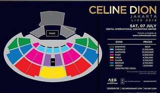 Tickets Celine Dion