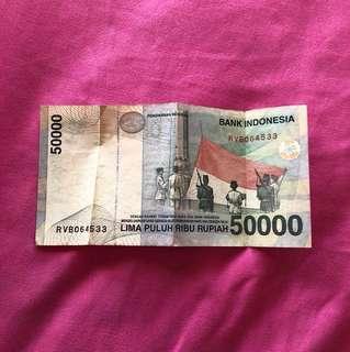 Uang 50.000 lama