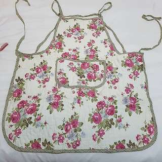 English flower patchwork design apron