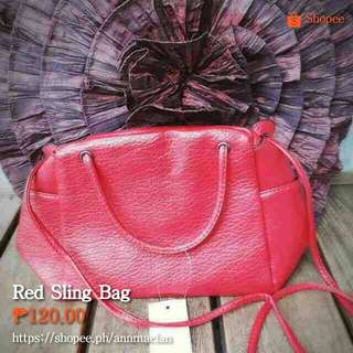 Red Sling/Tote Bag