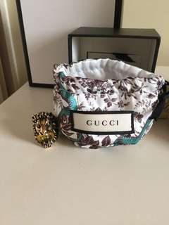 Gucci Lion Ring with Swarovski Crystal