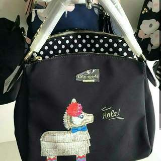 FREE SHIP Kate Spade Bag Handbag Sling Crossbody -hola print black