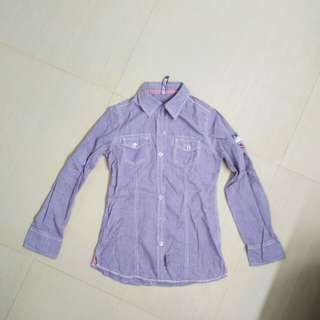 Purple pattern shirt
