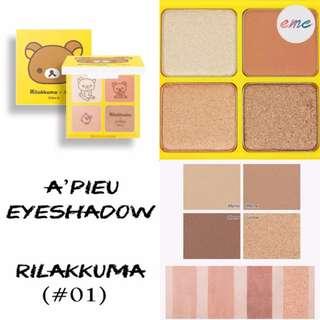 BN Rilakkuma A'pieu Eyeshadow Quad For Your Shadow