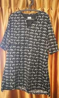 Brand New Black Zebra Prints Baggy Dress