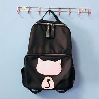 Faux Leather Meow Back Pack