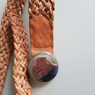 Nine West Woven leather belt