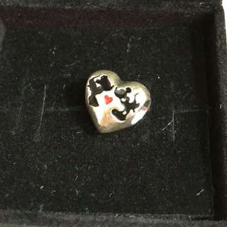 Pandora Charm (Mickey and Minnie heart)