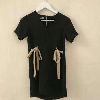 Black dress w/ribbon