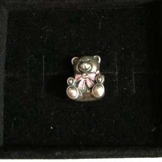 Pandora Charm (Bear with pink ribbon)