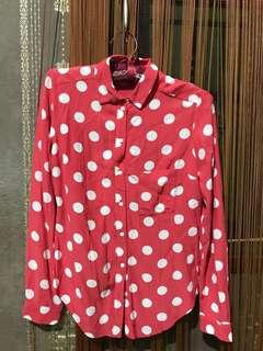 Topshop Polka shirt