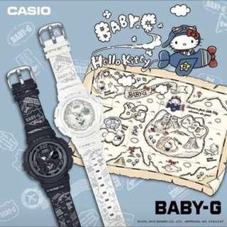 日本直送 カシオ ベビーG CASIO BABY-G HELLO KITTY コラボ 限定モデル 腕時計 レディース BGA-190KT-7BJR