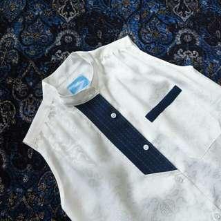 Little treasure 鉛白花無袖襯衫洋裝 pinkoi設計師