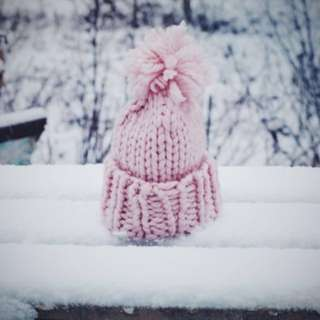 ♡ Pink Tumblr Knitted Beanie ♡