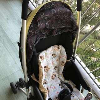 Mickey design cute baby stroller / Pram bought in Japan