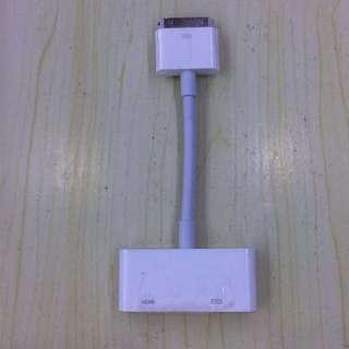 iphone 4/4s/ipad2/3轉HDMI高清電視轉換器視頻連接線