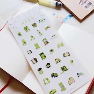 [PWP] Sticker (matcha theme) (Ref No.: 013)
