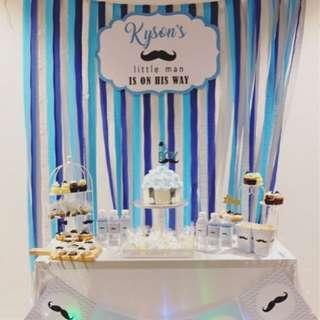 DIY Crepe Paper  Party Streamer Celebration Garland / Party Decor backdrop