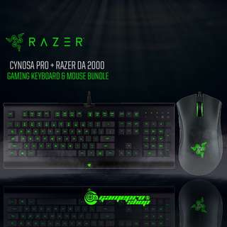 Razer Cynosa Pro Gaming Keyboard + Razer DA 2000 Mouse Bundle (RZ84-01470100-B3M1)