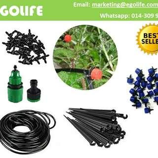 360 degree Micro Drip Irrigation System Garden Tubing Kit Water Dripping Set