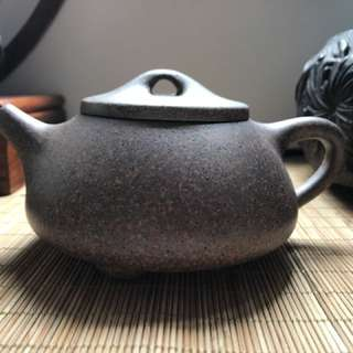 緞泥石飄壶 Chinese purple Clay Teapot