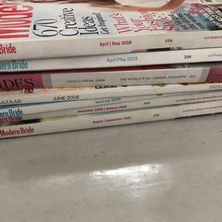Bundle 7 Imported Wedding Bridal Fashion Magazines