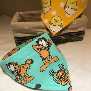 Cat dog cowbou bandana bib