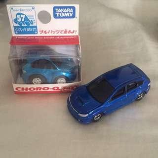 Tomica & CHORO-Q Subaru Impreza WRX STI combo