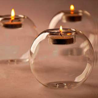 Glass candle-holder