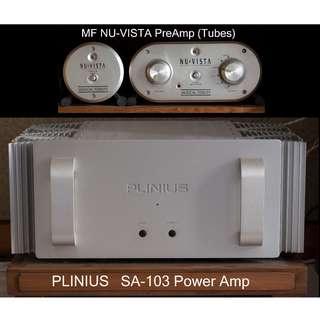 Musical Fidelity Nu Vista Pre-Amp & Plinius SA-103 Power Amp